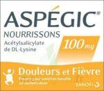 ASPEGIC NOURRISSONS 100 mg, poudre pour solution buvable en sachet-dose à LE BOUSCAT