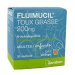 FLUIMUCIL EXPECTORANT ACETYLCYSTEINE 200 mg SANS SUCRE, granulés pour solution buvable en sachet édulcorés à l'aspartam et au sorbitol à LE BOUSCAT