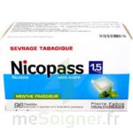 NICOPASS 1,5 mg SANS SUCRE MENTHE FRAICHEUR, pastille édulcorée à l'aspartam et à l'acésulfame potassique à LE BOUSCAT