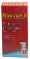 RHINADVIL MAUX DE GORGE TIXOCORTOL/CHLORHEXIDINE, suspension pour pulvérisation buccale à LE BOUSCAT