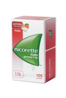 Nicorette 2 mg Gomme à mâcher médicamenteuse sans sucre fruits Plq/105 à LE BOUSCAT