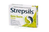 STREPSILS CITRON SANS SUCRE, pastille édulcorée à l'isomalt, au maltitol et à la saccharine sodique à LE BOUSCAT