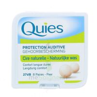 QUIES PROTECTION AUDITIVE CIRE NATURELLE 8 PAIRES à LE BOUSCAT