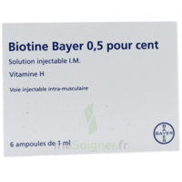 BIOTINE BAYER 0,5 POUR CENT, solution injectable I.M. à LE BOUSCAT