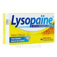 LYSOPAÏNE MAUX DE GORGE CETYLPYRIDINIUM LYSOZYME MIEL CITRON SANS SUCRE, comprimé à sucer édulcoré au sorbitol et à la saccharine à LE BOUSCAT