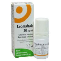 CROMABAK 20 mg/ml, collyre en solution à LE BOUSCAT