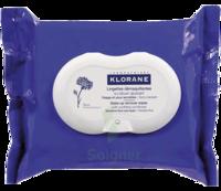 Klorane Soins des Yeux au Bleuet Lingette démaquillante biodégradable 2*Packs/25 à LE BOUSCAT